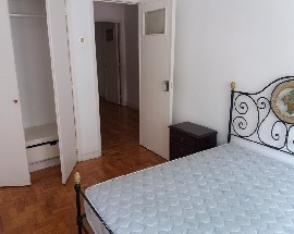 This is a single room with a double bed